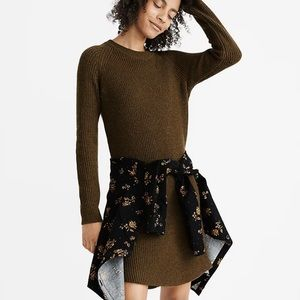 NEW Madewell Curved-Hem Sweater Dress